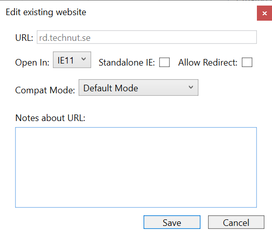 Site added to Enterprise Mode Site List  Manager